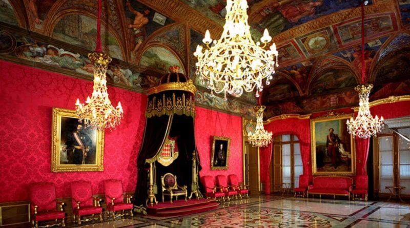 Interior do Palácio do Príncipe de Mônaco