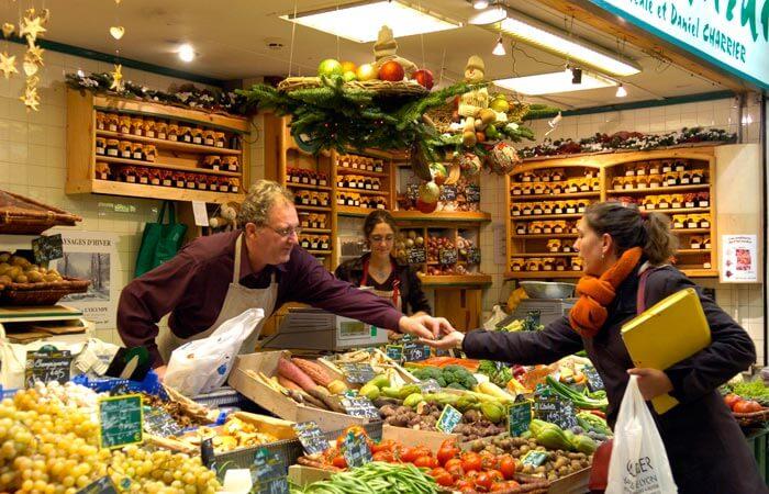 Barraca do Mercado Les Halles de Lyon