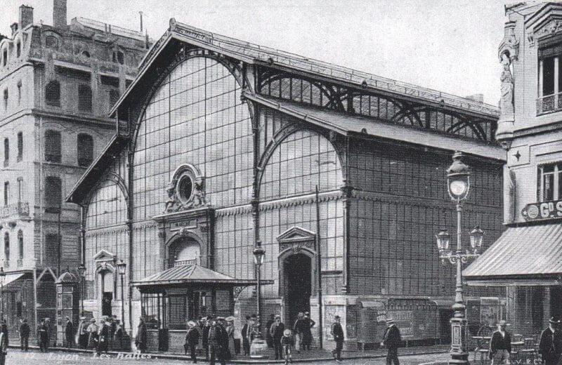 Foto antiga do Mercado Les Halles de Lyon