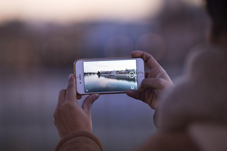 Foto com celular