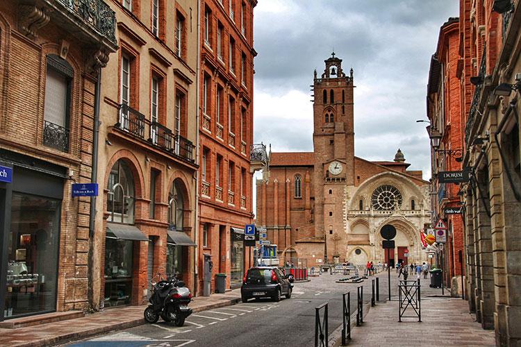 Vista da rua de Toulouse