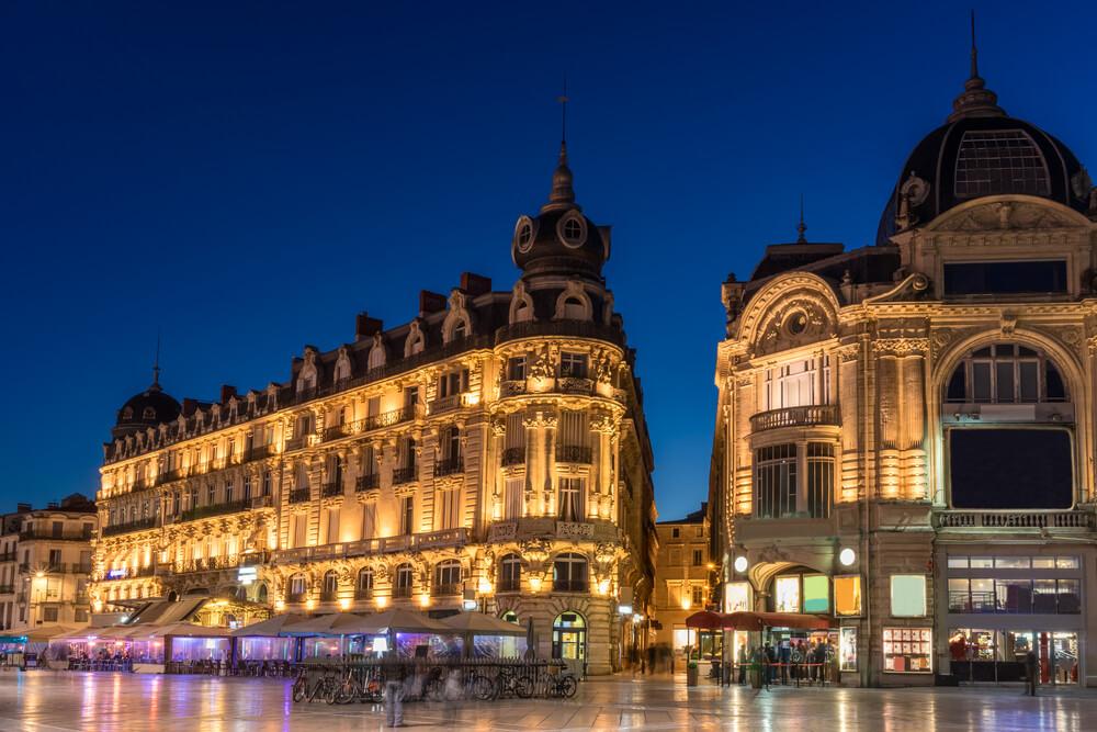 Vista da Place de la Comédie em Montpellier