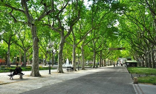 Esplanada Charles-de-Gaulle em Montpellier