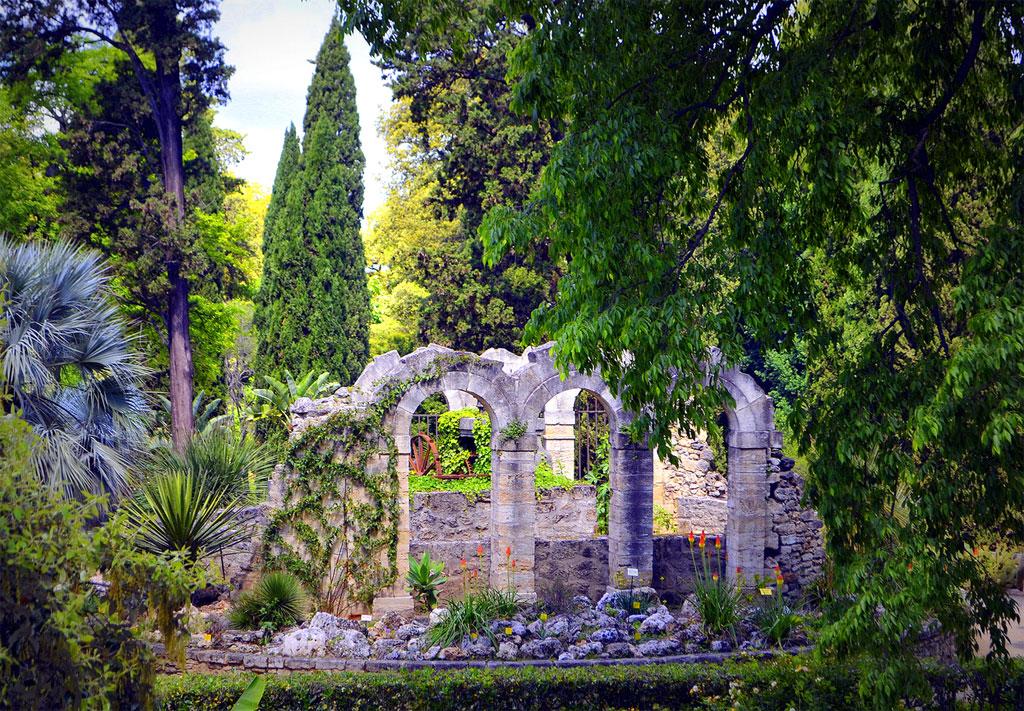 Vista do Jardin des Plantes em Montpellier