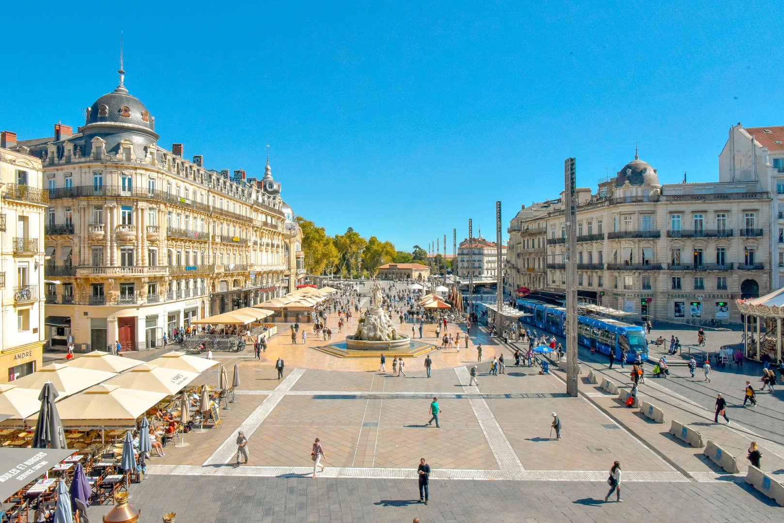 Área da Place de la Comédie em Montpellier