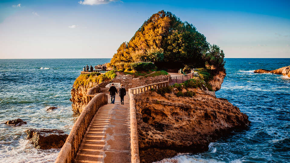 Vista do mar de Biarritz
