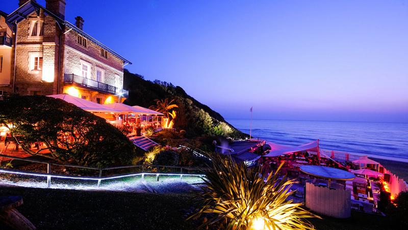 Orla de Biarritz de Noite