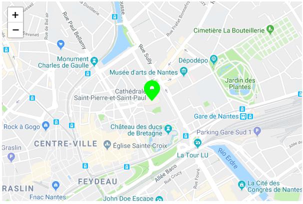 Mapa da Catedral de Nantes