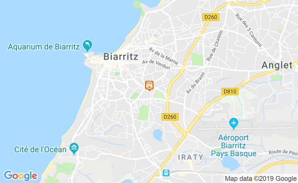 Mapa do Aquário de Biarritz
