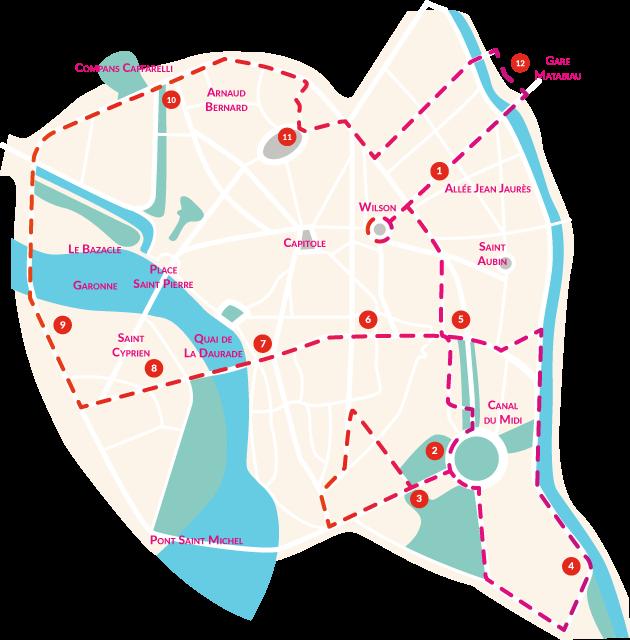 Mapa do City Tour