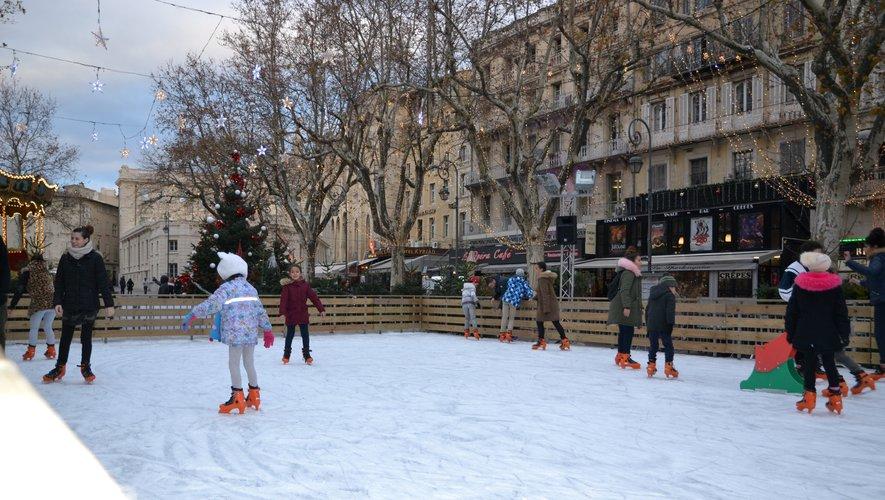 Pista de patinação em Aix