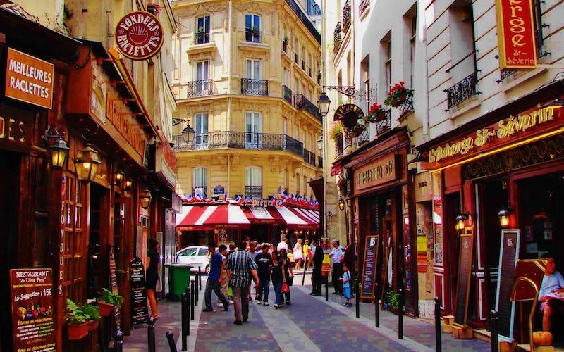 Quartier Latin em Paris