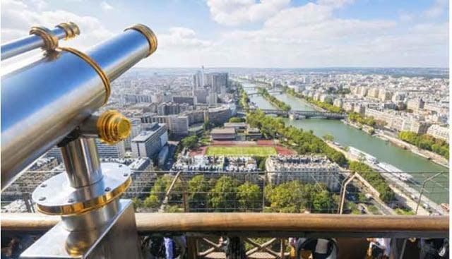Vista desde o alto da Torre Eiffel