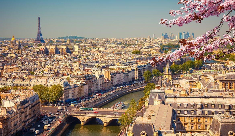 Vista de Paris ao entardecer