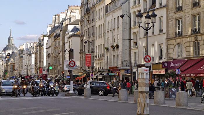 Le Marais em Paris