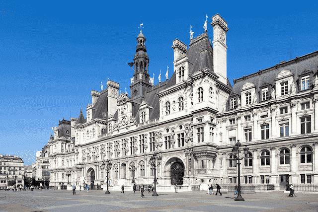 Hôtel de Ville no bairro Le Marais em Paris