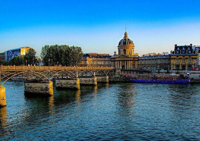 Vista da Pont des Arts em Paris