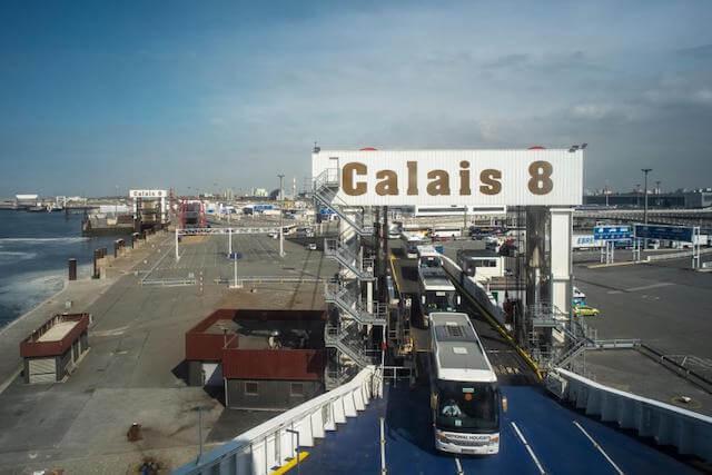 Calais na França - balsa