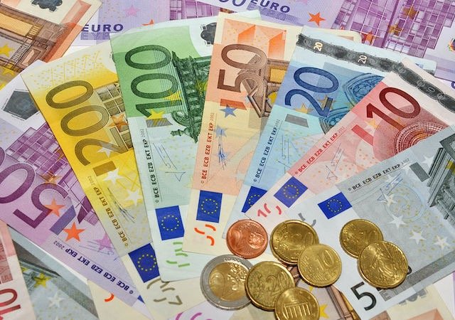 Dinheiro em Paris - euros