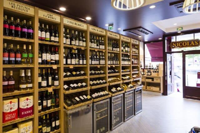 Loja de vinhos Nicolas em Paris