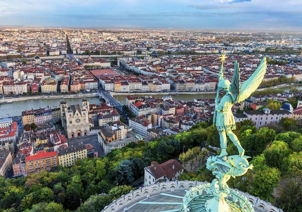 Vista panorâmica de Lyon