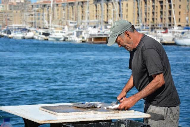 Mercado do Peixe em Marselha