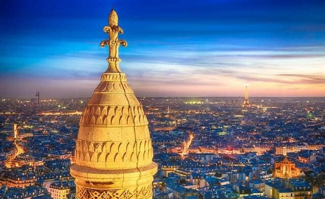 Vista da Basílica Sacré Coeur em Paris
