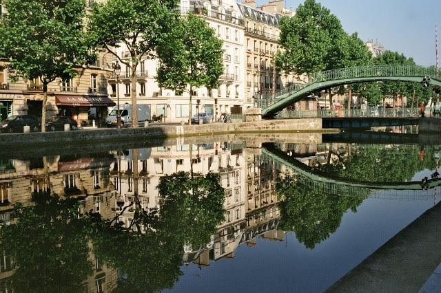 Vista do Canal Saint Martin