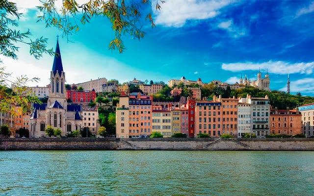 Vista da cidade de Lyon