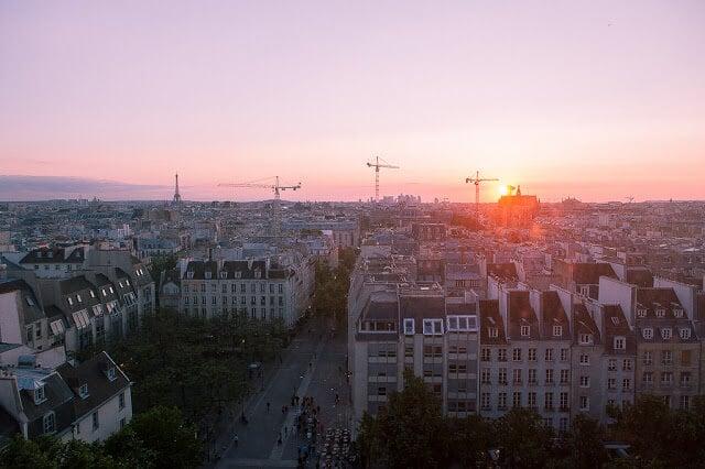 Vista de Paris do Centro Georges Pompidou