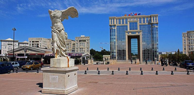 Le quartier d'Antigone em Montpellier