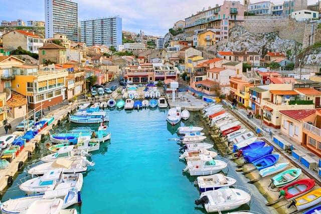 Vieux Port em Marselha