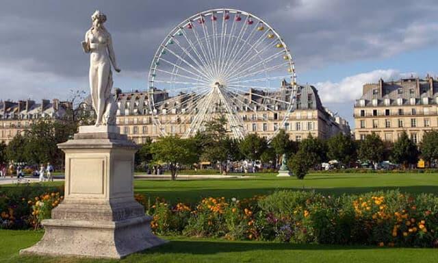 Jardin Tuileries em Paris