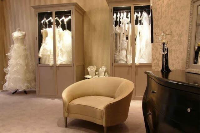 Loja de vestidos Suzanne Ermann em Paris