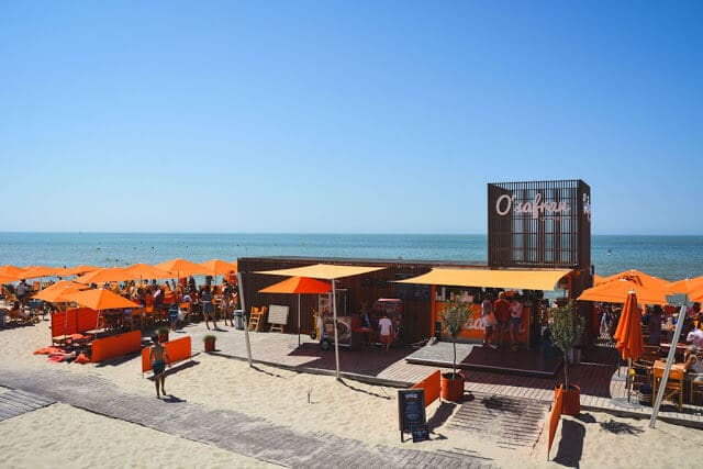 Praia Le Touquet perto de Paris
