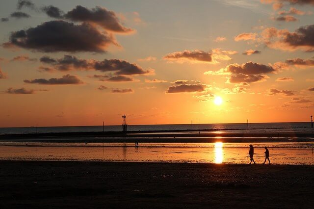 Praia Trouville-sur-mer perto de Paris