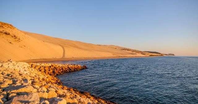 Água nas Dunes de Pilat na França