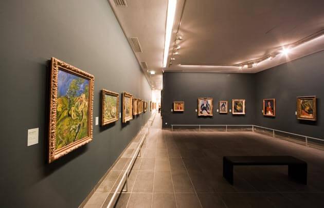 Coleções de arte do museu de l'Orangerie em Paris
