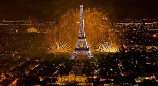Festa da queda da Bastilha em Paris