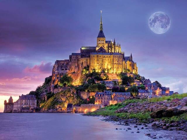 Vista do Mont Saint Michel na França