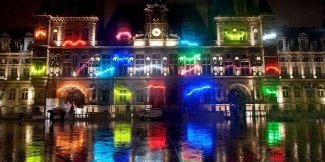 Luzes do Festival Nuit blanche em Paris