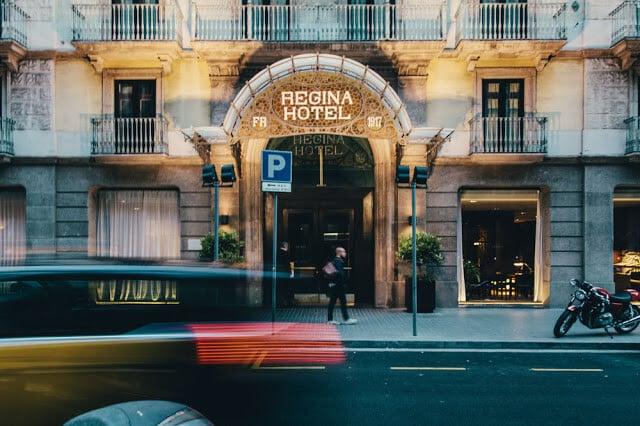 Vista do Hotel Régina em Paris