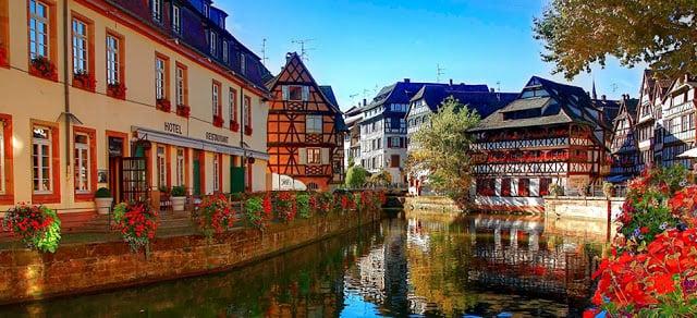 Casas na região da Alsácia
