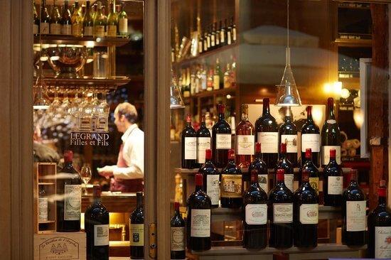 Lojas de vinho em Paris
