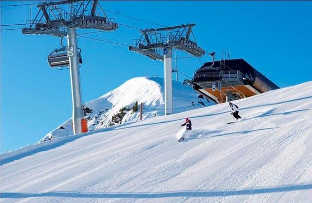 Estação de esqui na França