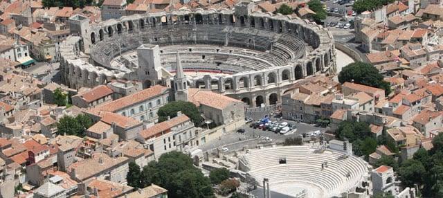 Cidade de Arles na França