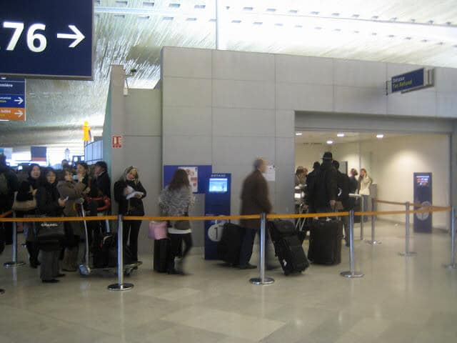 Detaxe no aeroporto de Paris