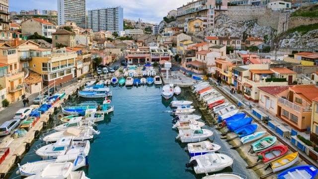 Cidade de Marselha na França