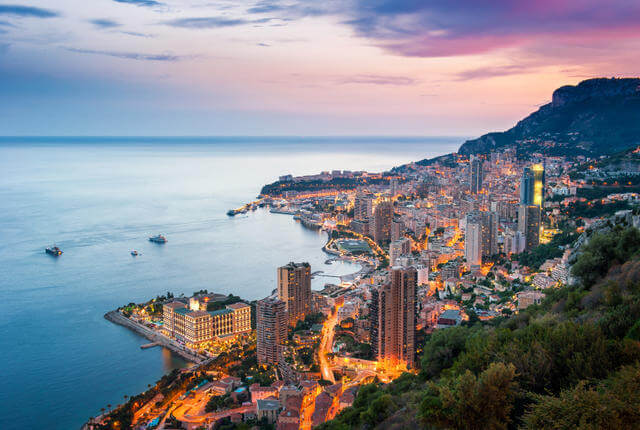 Vista de Mônaco na França