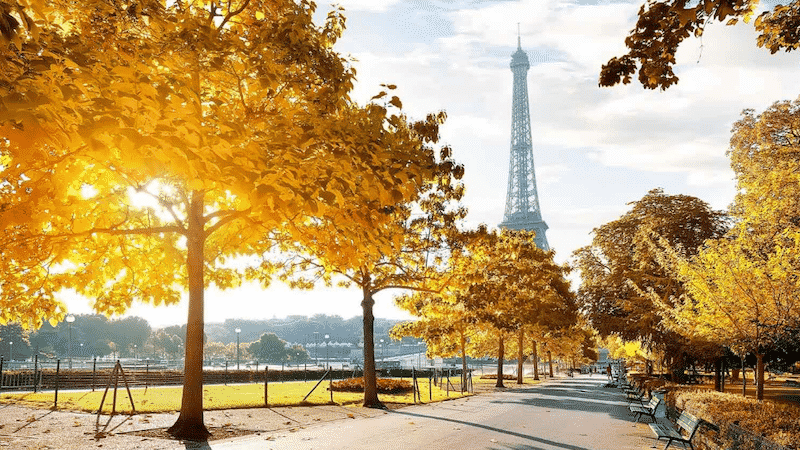 Outono em Paris na França